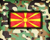 image of ami  - Amy camouflage uniform with flag on it Macedonia - JPG