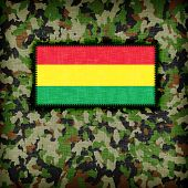 foto of ami  - Amy camouflage uniform with flag on it Bolivia - JPG