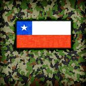 picture of ami  - Amy camouflage uniform with flag on it Chile - JPG