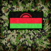 pic of ami  - Amy camouflage uniform with flag on it Malawi - JPG