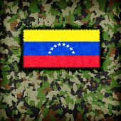 picture of ami  - Amy camouflage uniform with flag on it Venezuela - JPG