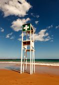 Beach lifeguard tower on the Fuerteventura