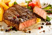 picture of pork cutlet  - Grilled steaks - JPG