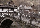 pic of luka  - Old stone bridge in the town Shiroka Luka Bulgaria - JPG