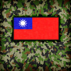 foto of ami  - Amy camouflage uniform with flag on it Republic of China - JPG