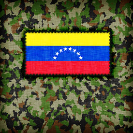 image of ami  - Amy camouflage uniform with flag on it Venezuela - JPG