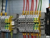 foto of contactor  - A part of cubicle with Distribution Rail terminal - JPG