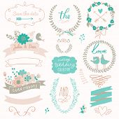 foto of laurel  - Romantic wedding set with labels - JPG