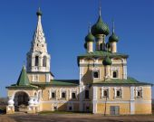 pic of uglich  - Orthodox church in ancient Russian town Uglich captured on a sunny day - JPG