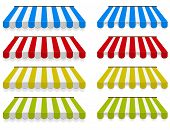 stock photo of awning  - Colored awnings - JPG