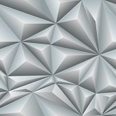 stock photo of bulge  - white abstract seamless pattern of triangles with bulging edges - JPG