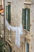 Washing-line Outside A House In Dubrovnik