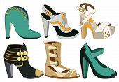 set of fashion shoes (vector illustration)