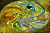 Abstract Art of Beautiful Color Background - Golden Flow of Rainbow
