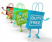 Duty Free Bags Show Tax Exempt Discounts