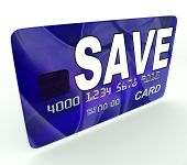 Save Bank Card Means Financial Reserves And Savings Account