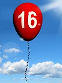 image of sweet sixteen  - 16 Balloon Showing Sweet Sixteen Birthday Party - JPG