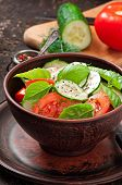 pic of lenten  - Tomato and cucumber salad with black pepper and basil - JPG