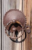 Old Door Knob And Keyhole From Wrought Iron