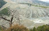 stock photo of asbestos  - Ecocide though asbestos mining - JPG