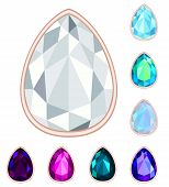 picture of teardrop  - teardrop gemstone set - JPG