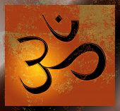 stock photo of budha  - Om symbol - JPG