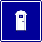 stock photo of porta-potties  - portable bathroom sign - JPG