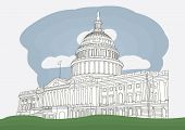 picture of house representatives  - The US Capitol in Washington DC - JPG