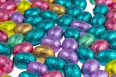 Colorful Chocolate Easter Eggs