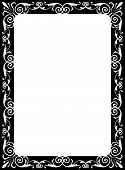 pic of scrollwork  - Elegant Victorian style calligraphy scroll work frame border for a vintage ad or wedding announcement - JPG