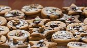 picture of linzer  - Linzer marmelade cookies with nuts - JPG