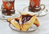 stock photo of purim  - hamantaschen - JPG