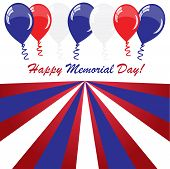 Memorial Day Background With Balloons