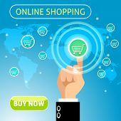 Buy now online shopping concept