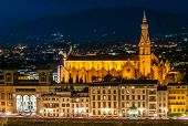Santa Croce view at night, Florence