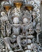image of lord krishna  - lord vishnu with mahalakshmi famous hindu god - JPG