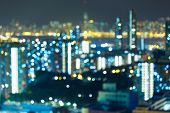 picture of hong kong bridge  - Night lights of the Hong Kong  - JPG