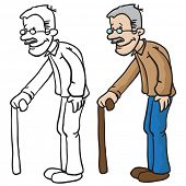 foto of grandpa  - grandpa cartoon illustration - JPG