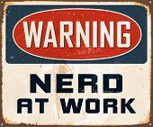 picture of nerd  - Vintage Metal Sign  - JPG