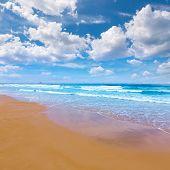 foto of manga  - La Manga del Mar Menor beach in Murcia Spain Playa Barco Perdido at Mediterranean - JPG