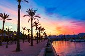 foto of marina  - Cartagena Murcia port marina sunset in Mediterranean Spain - JPG