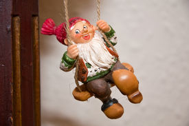 foto of tinkerbell  - A goblin in a swing waiting for Christmas - JPG