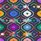 image of motif  - Vector seamless ethnic pattern with Uzbek - JPG