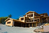 picture of 2x4  - Wooden framing for construction of a new home - JPG