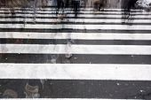 pic of shaky  - People crossing a road hurrying blurred motion - JPG