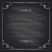 pic of girly  - Chalkboard frame with antique curls and place for text - JPG