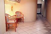 stock photo of beauty salon interior  - Interior of spa salon waiting room - JPG
