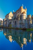 image of gents  - Medieval castle Gravensteen - JPG