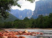 stock photo of canaima  - At our camp site in Canaima National Park enroute to Angel Falls - JPG