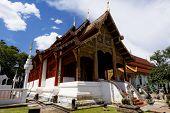 pic of mole  - Old wooden church of Wat Lok Molee Chiang mai Thailand - JPG